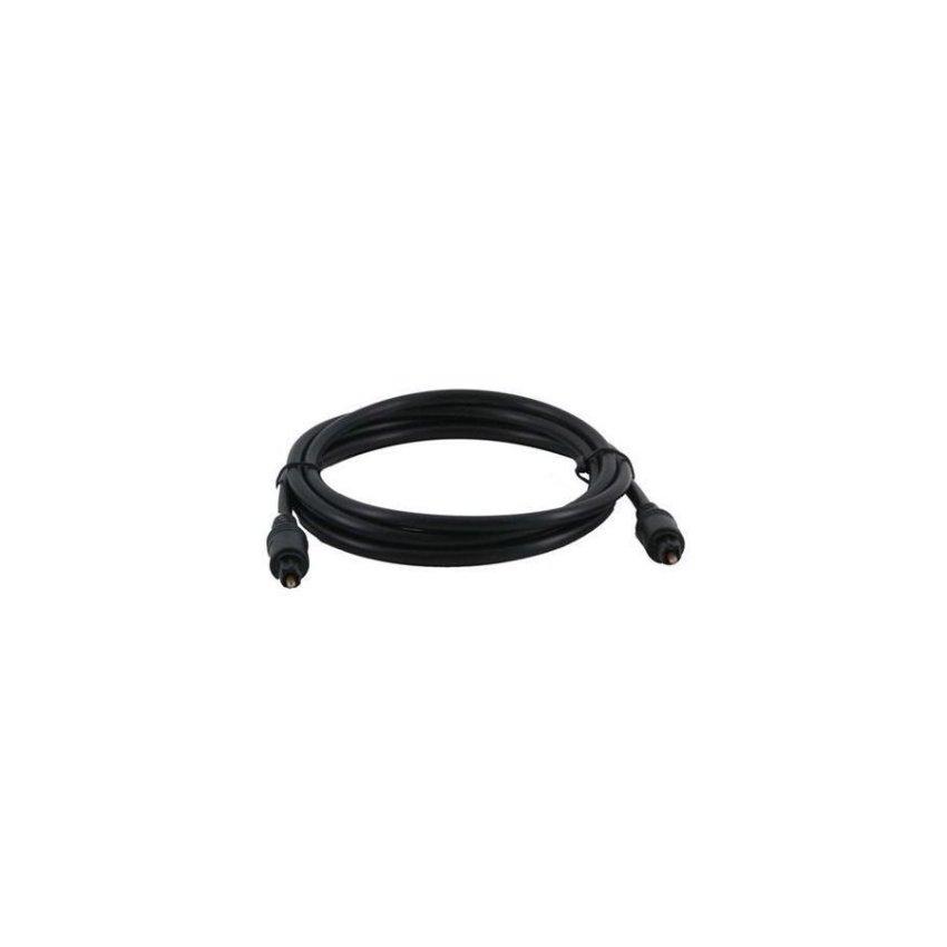 2m/6.0ft Audio Optical Fiber Digital Cable Black