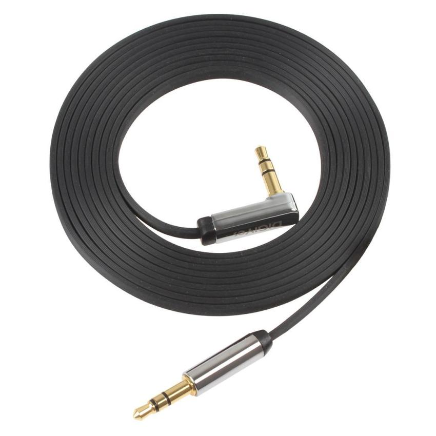2m Length 3.5mm Auxiliary Audio Flat Cable 90 Compatible for iPhone (Intl)