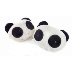 2pcs*Cute Panda Plush Neck Pillow / Car Headrest Car Pillow / Car Neck Pill (Intl)