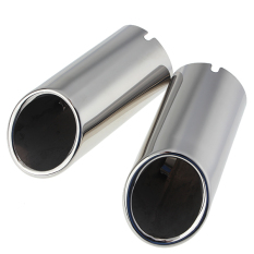 2x Chrome Exhaust Muffler Tip Pipe For VW Jetta 6 MK6 2.0TDI 2.5 201.2012 (Intl)