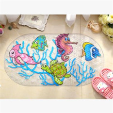 02 None Slip PVC Bath Mat Bathroom Safety Non-slip Suction Cups Carpet Bath Shower Floor Cushion Rug Bathmat Floor Mat 39*69