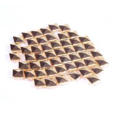 100Pcs 8mm Fashion Square Rivet Stud Punk Rock Design Spikes DIY Craft Gold