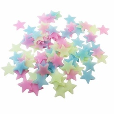 Creative Wall Stickers for Kids Rooms Home Decor 100pcs Creative Wall Decals Glow Stars Luminous Fluorescent - intl