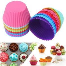 Kue Muffin Cangkir Diseduh Sendiri Silikon Cokelat Cetakan Bulat Kue Source · Cetakan Kue Bulat Cake