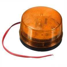 12V Security Alarm Strobe Signal Warn Warning LED Lamp Flashing Light Orange