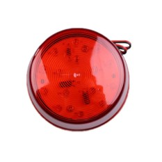 12V LED Alarm Security Signal Lamp Warning Siren with Red Flashing Light (Intl)