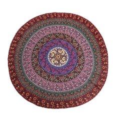 150cm Bohemian Style Mandala Round Bed Towel Thin Chiffon Beach Yoga Sheet Tapestry Red Totem - Intl