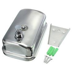 1Pc 500ML Wall Mounted Bathroom Stainless Steel Soap Dispenser Liquid Soap Box (INTL)
