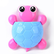 2 PCS Creative Cute Cartoon Turtle Wall Suction Cup Mount Toothbrush Toothpaste Holder Organizer- Blue - Intl