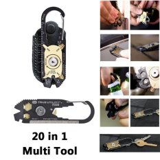 20 In 1 Stainless Steel Screwdriver Wrench Keychain EDC Pocket Multi Tool - intl