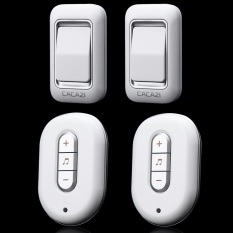 2016 NEW, W-9918-2-2 Silver, 2 Emitter + 2 Receivers Waterproof 300M Long-Range Wireless DoorBell, Wireless Door Chime, Wireless Bell