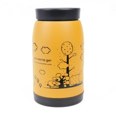 250ml Stainless Steel Vacuum Cup Flask Thermos Travel Insulated Mug Coffee Lid U-yellow (Intl)