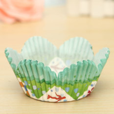 25pcs Cake Liner Muffin Dessert Baking High Temperature Greaseproof Petal Baking Cups #01
