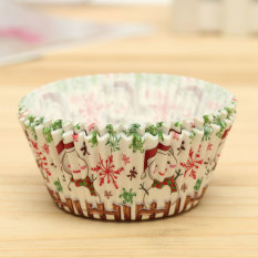 25pcs Xmas Colorful Paper Cake Cupcake Liner Case Wrapper Muffin Baking Cup #24 - Intl