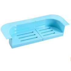 2pcs / Set Retractable Sink Water Filter Basket Flume Sliding Storage Rack ϼ