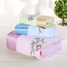 3 In 1 Superfine Fiber 400g / Pcs 70*140cm Bath Towel and Face Towel Soft and Water Absorption (Intl)