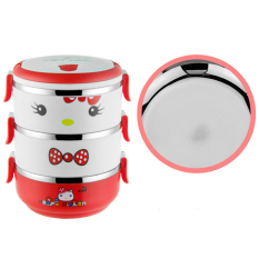 304 Stainless Steel Cartoon Bento Lunch Box (3 Layer) - Intl