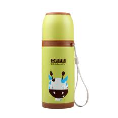 350ml Cartoon Stainless Steel Vacuum Flasks Thermos Cup-Deer (Light-green) (Intl)