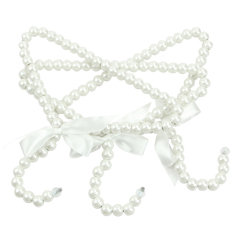 3Pcs Plastic Pearl Bow Clothes Hangers For Kid Children Fashion Small New