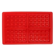 4-Cavity Waffle Waffles Cake Chocolate Pan Silicone DIY Tray Mold Baking Mould