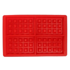 4-Cavity Waffle Waffles Cake Chocolate Pan Silicone DIY Tray Mold Baking Mould - Intl