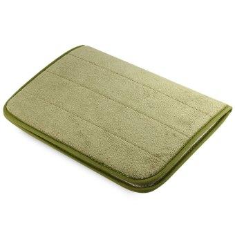 40 X 60cm Coral Velvet Bathroom Mat Non-slip Memory Foam Rug Soft Floor Carpet(green)