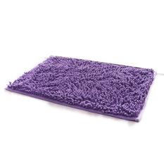 40 x 60cm Rectangle-shaped Water Absorbent Non-slip Soft Microfiber Chenille Floor Rug Mat Bath Mat Carpet (Purple) (Intl)