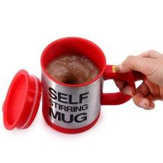 400ml Double Insulated Self Stirring Mug Electric Coffee Cup
