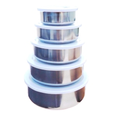 5 In 1 Stainless Steel Food Container (Silver) - Intl