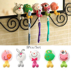 5 Pcs / Set Cartoon Toothbrush Holder / Strong Suction Toothbrush Hanging / Toothbrush Holder Cute / Creative Home
