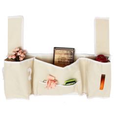 5 Pocket Over Bed Wall Hanging Storage Bag Fashion Lovely Decorative Hangers Bag - Intl