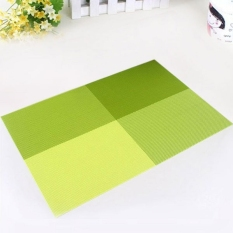 6pc Placemats Coasters Waterproof Insulation Mat Kitchen Dining Table (Green) (Intl)