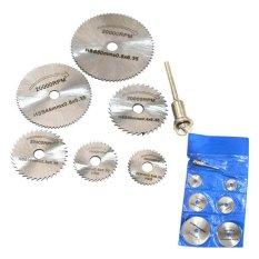 7 Pcs HSS Rotary Circular Saw Blades Discs 3.2mm Mandrel Set - intl