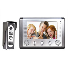 "7"" Video Door Phone Doorbell Intercom Kit 1-Camera 1-Monitor (EU Plug) (Intl)"