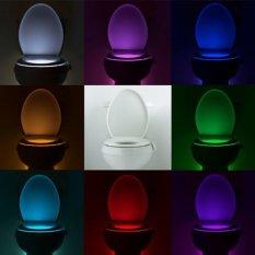 8-color Toilet Lamp Hanging Human Body Sensors Toilet Lid Lamp (White)