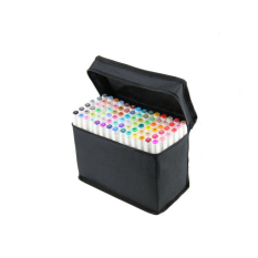 80 Color Touch Five Art Sketch Twin Marker Pen Broad Fine Point For Cartoon White (Intl)