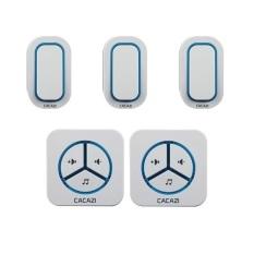 9909-3-2,3 Emitters To 2 Receivers Waterproof 280M Long-Range Wireless DoorBell, Wireless Door Chime, Wireless Bell