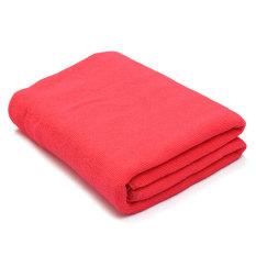 Absorbent Microfiber Towel Bath Quick Drying Washcloth Bath Dark Pink (Intl)