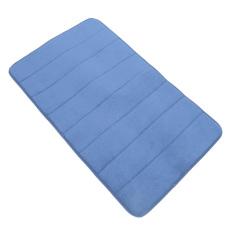 Absorbent Soft Memory Foam Mat Bath Bathroom Rug Shower Non-slip Floor Carpet Dark Blue (Intl)