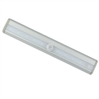 Adhesive Tape 10-LED Wireless PIR Auto Motion Sensor Light Intelligent Infrared Induction Lamp (White)