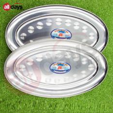 Alldaysmart Loyang Oval 1604 144 Stainless steel 32 Cm Isi 2 Pcs