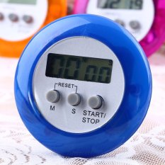 Cute Mini Round LCD Digital Cooking Home Kitchen Countdown UP Timer Alarm