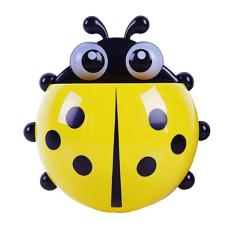 Amango Toothbrush Ladybug Wall Suction Holder - Yellow