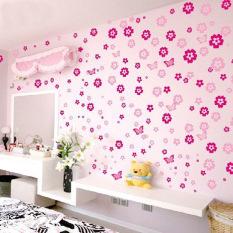 Amart dekorasi dinding kamar tidur Poster stiker bunga dekorasi rumah (naik merah) - International