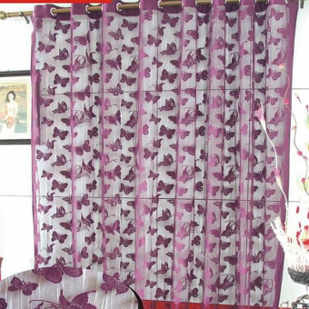 Amart Door Window Curtain Panel Butterfly String Cute Strip Tassel Purple - intl