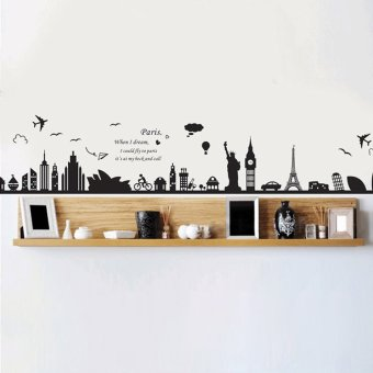 Amart New European Building Removable Wall Sticker Wall Poster Wallpaper