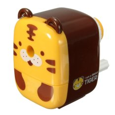 Animal Shaped School Home Office Desktop Helix Pencil Sharpener Hand Crank Kids Tiger - INTL
