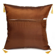 Audew Retro Vintage Cotton Square Throw Cushion Cover Pillow Case Sofa Home Decor Brown