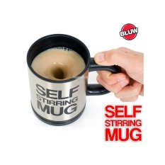 Automatic Electric Self Stirring Mug 400ml Loon Coffee Milk Cup Black