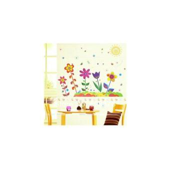 AY708 : Color Flowers - Stiker Dinding / Wall Sticker
